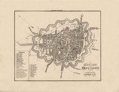 Historische kaart, plattegrond van de stad Groningen in Groningen uit 1867 door Kuyper van Kaartcadeau.com