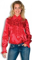 Rouches blouse rood dames 38 (m)