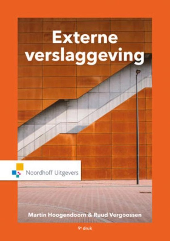 Boek cover Externe verslaggeving van Martin Prof. Dr. Hoogendoorn (Paperback)