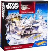 Hot Wheels Star Wars HOTH Echo Base Battle speelset incl Snowspeeder