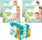 Afbeelding van Pampers Premium Protection Luiers en billendoekjes - Maat 1 (2-5 kg) - Startpakket