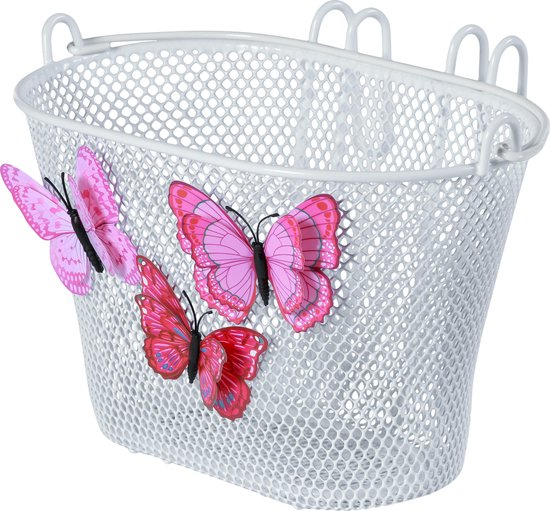 Basil Jasmin Butterfly kinder fietsmand - wit