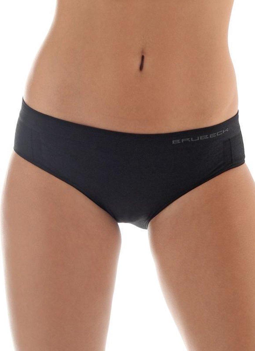 Brubeck Comfort | Dames Onderbroek Hipster Naadloos met Merino Wol - 2 Pack - Zwart - S