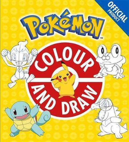 Boek cover The Official Pokemon Colour and Draw van Pokémon (Paperback)
