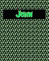 120 Page Handwriting Practice Book with Green Alien Cover John