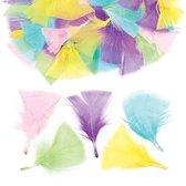 Pastelkleurige knutselveren – Een creatief knutsel- en decoratieproduct voor kinderen (120 stuks per verpakking)