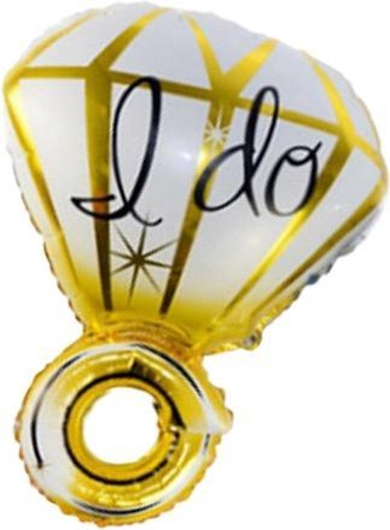Folie ballon als ring goud 70*50 cm