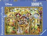 Ravensburger puzzel Disney mooiste Disney Thema's - Legpuzzel - 1000 stukjes
