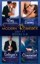 Modern Romance Collection: July Books 5 - 8: A Ring to Secure His Crown / Wedding Night with Her Enemy / Salazar's One-Night Heir / Claiming His Convenient Fiancée