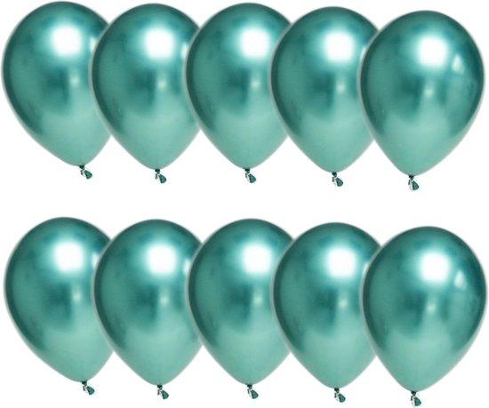 Luxe Chrome Ballonnen Groen 10 Stuks - Helium Chrome Metallic Ballonnenset Feestje Verjaardag Party