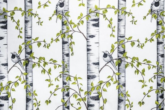 Textec- Kant En Klaar - Groen - GordijnScandinavische Design - Afmeting 150cm x 270cm
