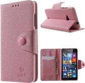 Mlt Wallet hoesje Microsoft Lumia 535 Licht roze