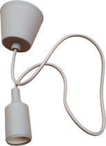 LED lamp DIY   pendel hanglamp - strijkijzer snoer   E27 siliconen fitting   grijs