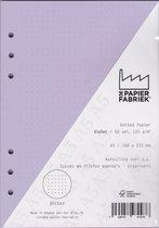 Aanvulling Dotted 120g/m²  Violet Notitiepapier voor A5 Succes, Filofax of Kalpa Organizers 100 Pag