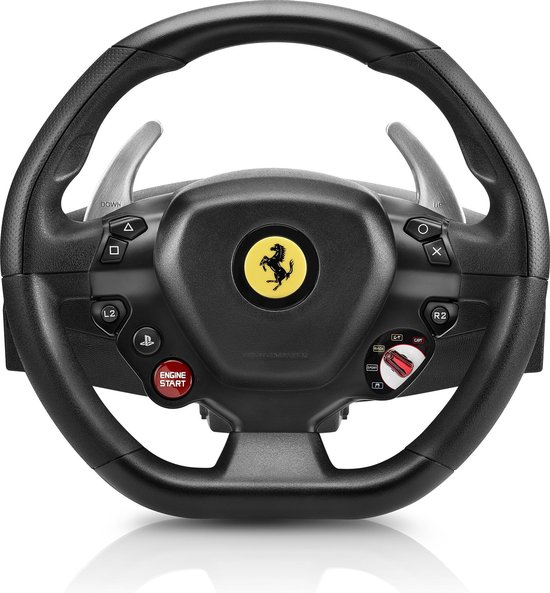 Thrustmaster T80 Ferrari 488 GTB Edition - Racestuur + Pedalen - PS4