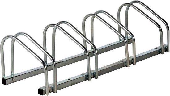 Bicycle Gear Fietsenrek Voor 4 Fietsen Zilver