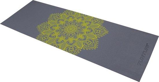 Tunturi Pvc Yogamat - Antraciet Met Print - 183 x 61 x 0.4 cm