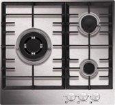 Airlux AT635HIX-V1 kookplaat Roestvrijstaal Ingebouwd Gaskookplaat 3 zone(s)