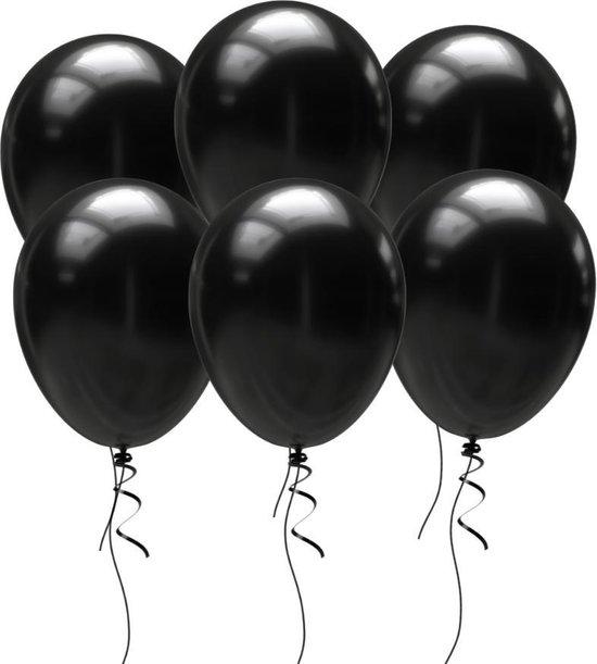 GBG 25 stuks Zwart Ballonnen – Decoratie – Feestversiering – Black - Black Latex - Verjaardag - Bruiloft - Feest - Halloween