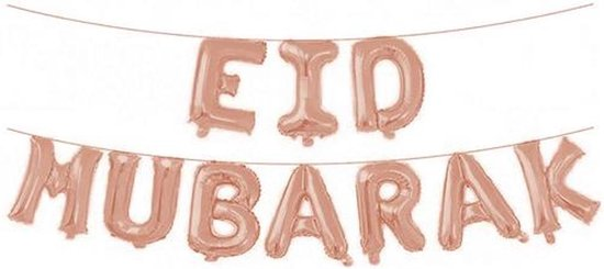 Folieballon Eid Mubarak - Rosé Goud