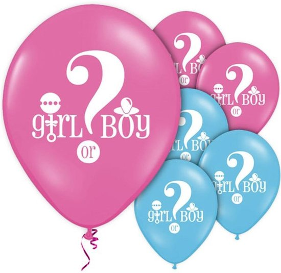 Ballonnen 'Girl or Boy?' Roze Blauw - 8 stuks