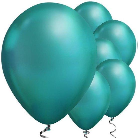 Ballonnen Chrome Groen - 5 stuks