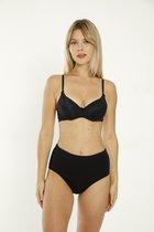 Hoge Taille - Ribana - Dames Slips - L - Zwart - 5 Pack
