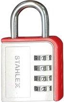 Stahlex Hangslot met cijfercode aluminium 85 mm. - 4 cijferige combinatie