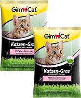 GimCat Kattengras in Snelkiemzak - Kattensnack - 2 x 100 g