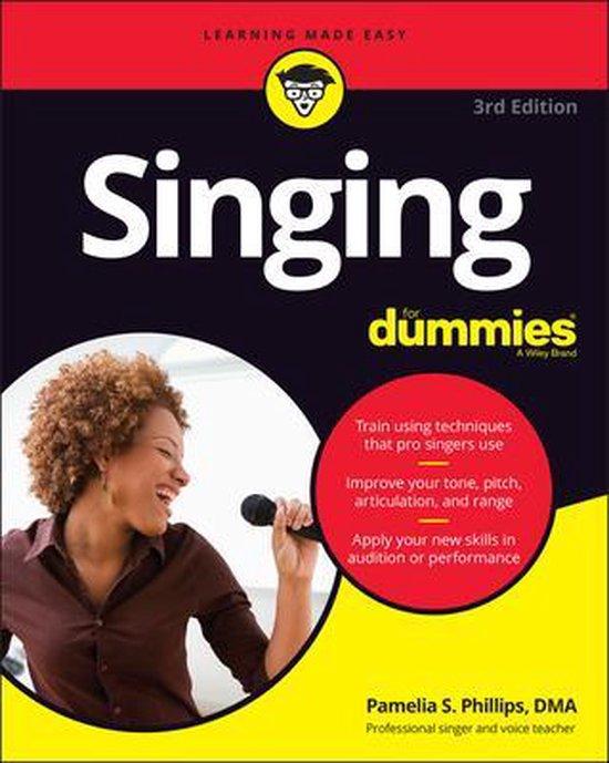 Boek cover Singing For Dummies van Pamelia S. Phillips (Paperback)