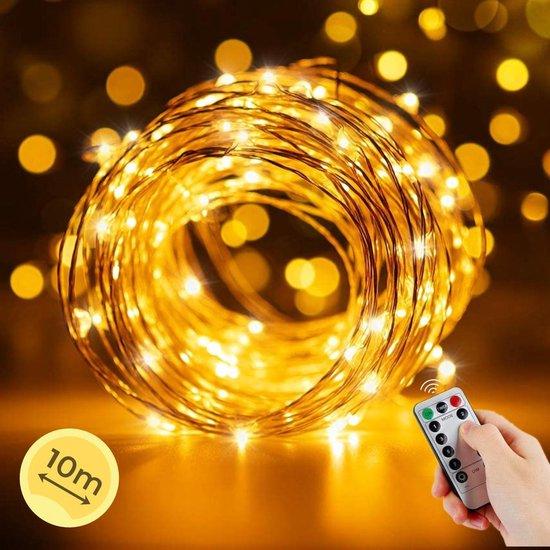 Soothe Kerstverlichting Buiten en Binnen - Lichtsnoer – 10 meter – Op Batterijen – Waterdicht
