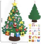 Offerroo - Kerst - Vilten kerstboom voor kinderen met 31 ornamenten - Kerstboom - kerstversiering - kerst decoratie