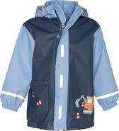 Playshoes - Regenjas voor jongens - Bouwwerkplaats - Blauw - maat 104cm