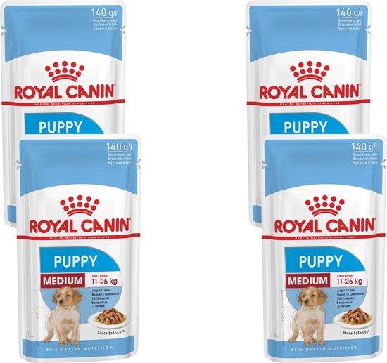 Royal Canin Shn Medium Puppy Pouch - Hondenvoer - 4 x 10 x 140 g