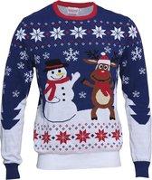 """Foute Kersttrui Dames & Heren - Christmas Sweater """"Beste Vrienden"""" - 100% Biologisch Katoen - Kerst trui Mannen & Vrouwen Maat XL"""