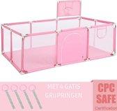 Speelbox Baby ROZE 188*128*66cm - Kinderbox - Playpen - Grondbox - Kruipbox - Kinderen - Peuter - Kleuter - Camping - Vakantie