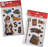 3BMT - Sinterklaas raamstickers - decoratie - 2 vellen