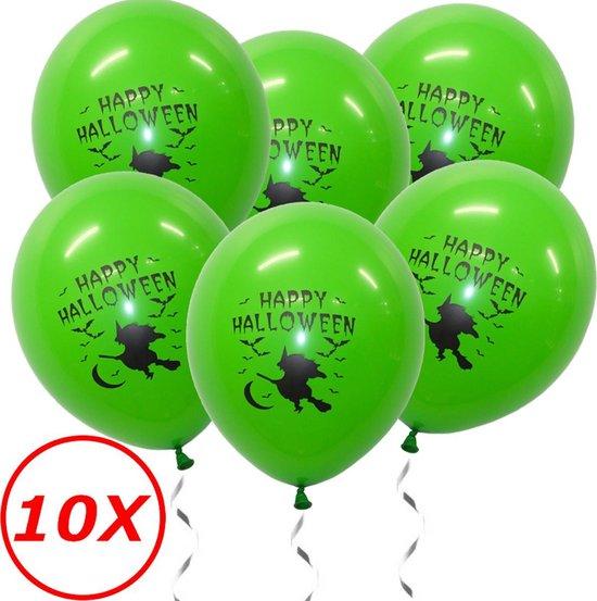 Halloween Versiering Decoratie Helium Ballonnen Feest Versiering Halloween Accessoires Ballon Groen Heks – 10 Stuks