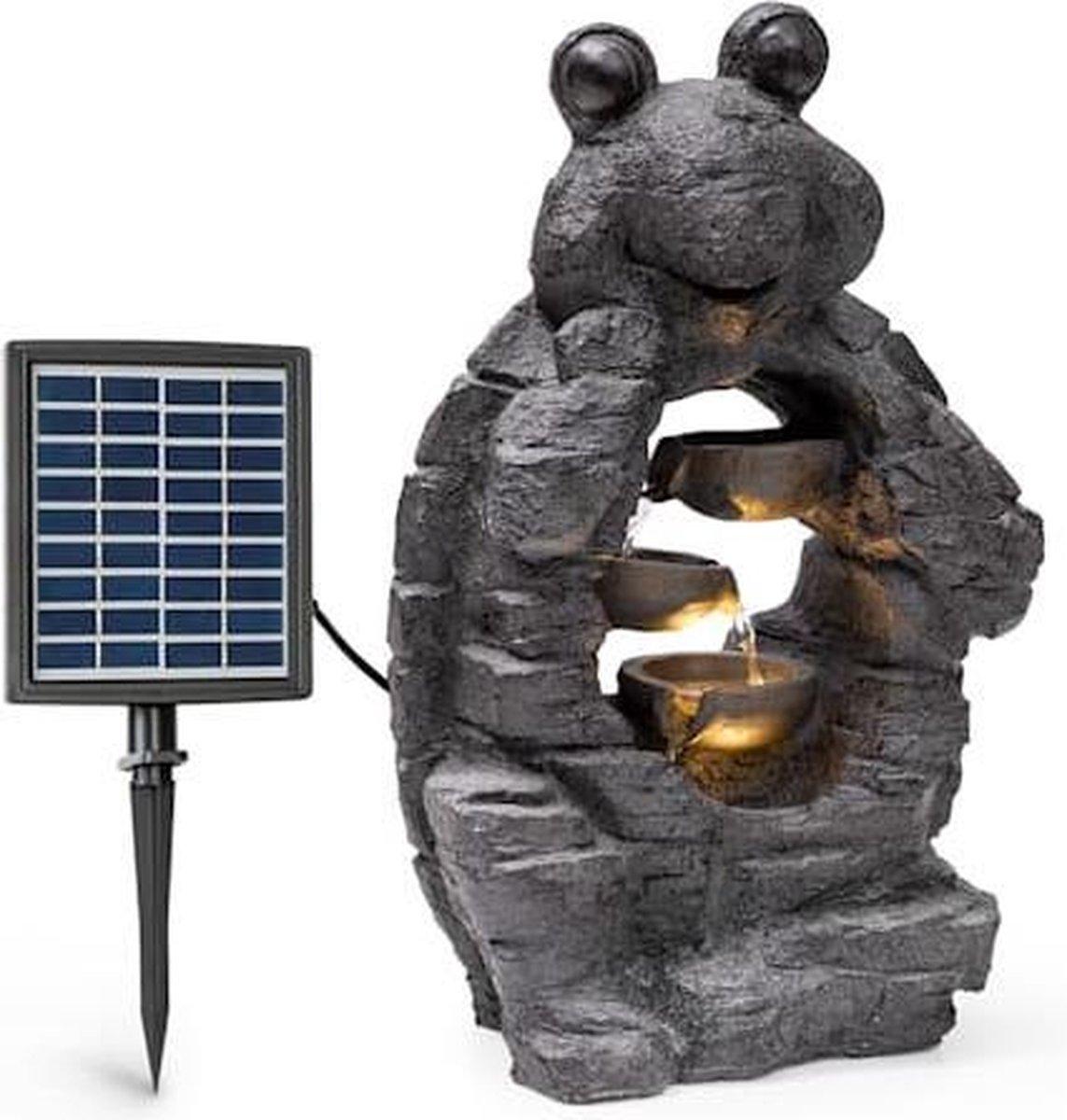 blumfeldt Albert zonne-energie fontein voor binnen en buiten 27,5 x 50 x 19,5 cm - Polyresin - LED-verlichting - Weerbestendig