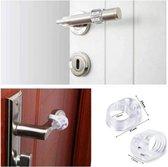 FSW-Products - 2 Stuks - Siliconen deurstoppers - Deurbuffers - Transparant - Deurklinkbuffers - Deurbescherming - Muurbeschermers