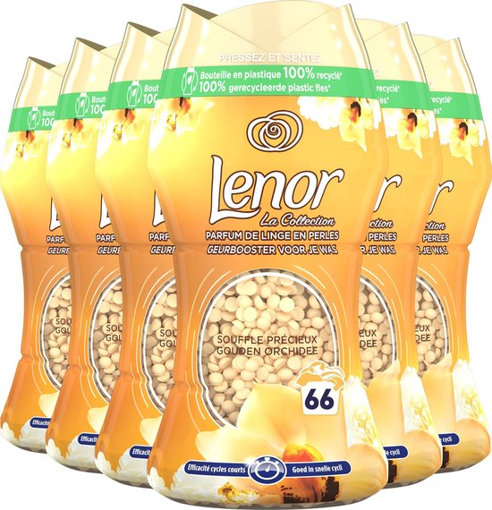 Lenor Geurbooster Gouden Orchidee - Wasmiddel Parfum - 6x11 Wasbeurten - Voordeelverpakking
