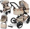Sens Design Kinderwagen 3 in 1 - met luiertas - Beige/Goud