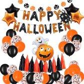 GBG Halloween Set Pumpkin -  Halloween Decoratie – Feestversiering - Papieren Confetti – Oranje - Zwart - Wit  - Feest