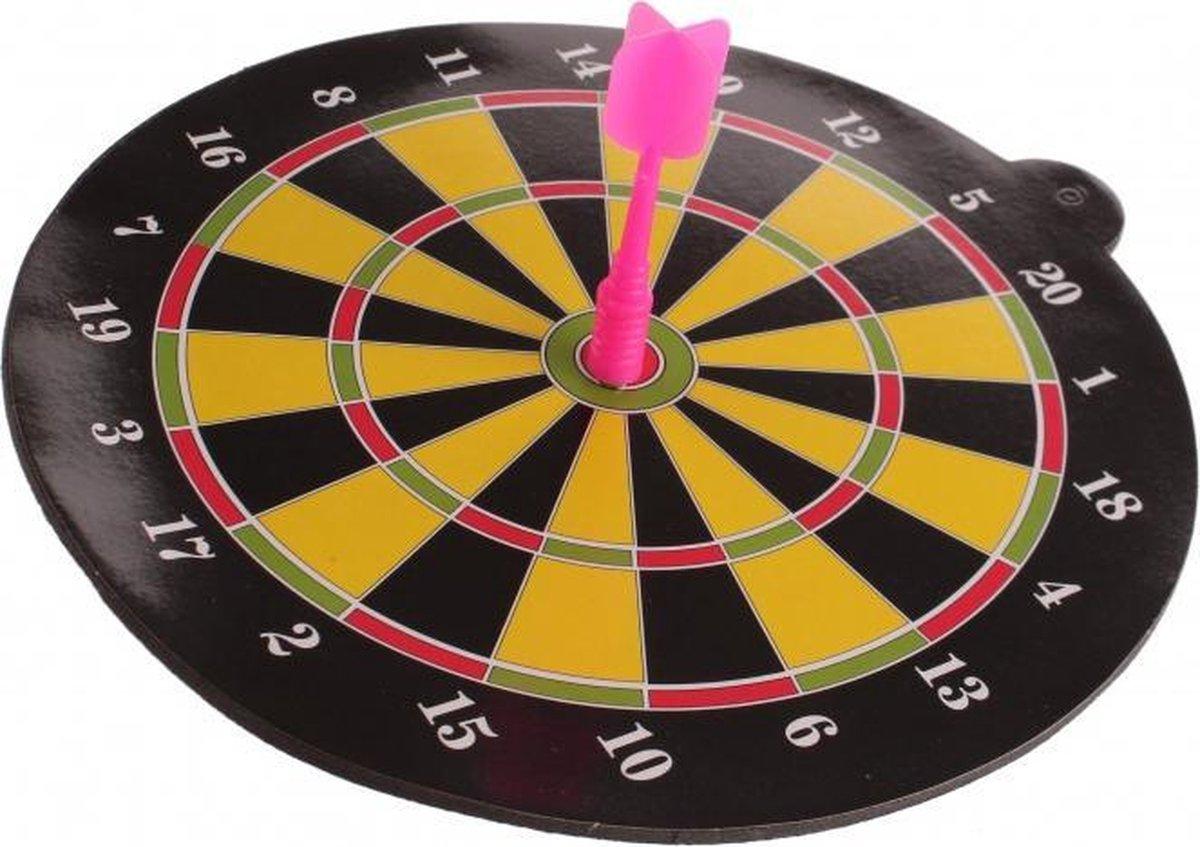 dartbord magnetisch roze 20 cm