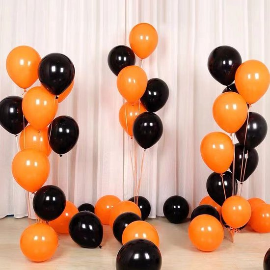 Halloween Decoration-60 stuk Latex ballonnen -Griezelige feestversiering