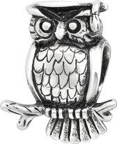 Uil bead | Bedel | Zilverana | geschikt voor Biagi , Pandora , Trollbeads armband | 925 zilver