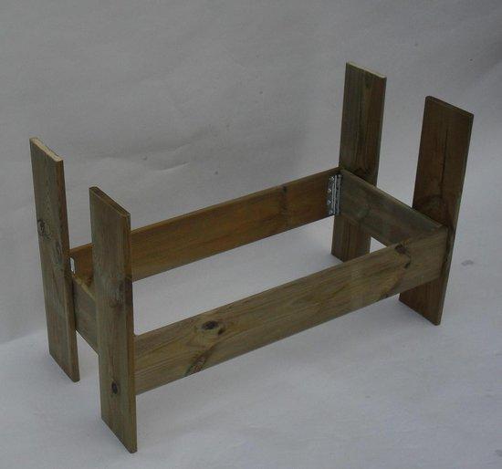 Moestuinbak moestuintafel oppottafel kweektafel plantentafel grenenhout 98x48x88cm - handgemaakt - 5min montage
