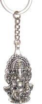 Ganesha Boeddha olifant Sleutelhanger / Budha Sleutelhanger / Hindu Sleutelhanger zilver