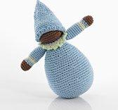 Pebble rammelaar - Pixie pop blauw