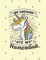 My Unicorn Ate My Homework Notebook - College Ruled